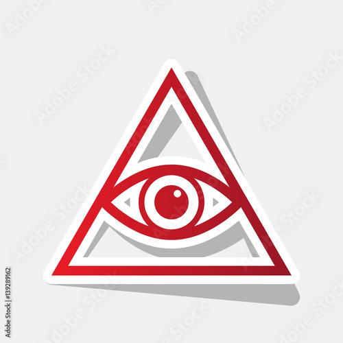 Fotografia, Obraz  All seeing eye pyramid symbol
