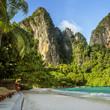 Panorama of Railay beach in Krabi province, Thailand
