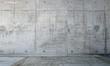 Leinwanddruck Bild - the concrete wall and empty room