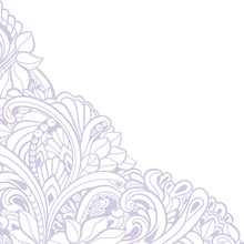 Hand-drawn Decorative Floral Element For Design. Vector Angle