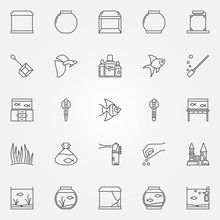 Aquarium Icons Set