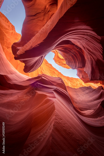 Staande foto Canyon Antelope Canyon natural rock formation