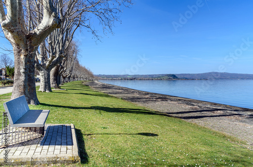 Bolsena lake, lazio, italy Tablou Canvas