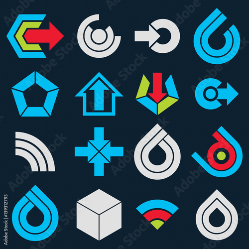 Vector Multimedia Signs Collection Isolated On Black