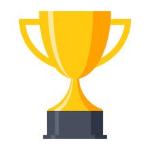 Trophy Cup, Award, Vector Icon...