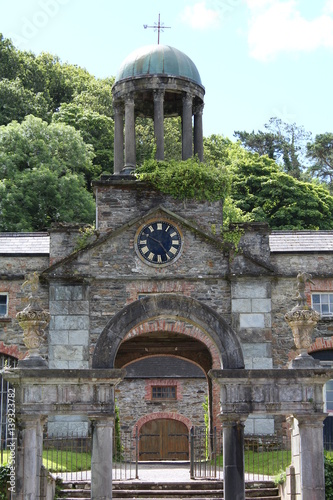Photo Old building with tower clock Bantry Gardens Cork Ireland