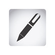 gray emblem ballpoint icon, vector illustraction design