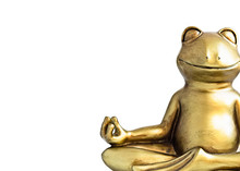 Smiling Gold Yoga Frog Meditat...
