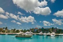 Boat Pier  In Bahamas Island