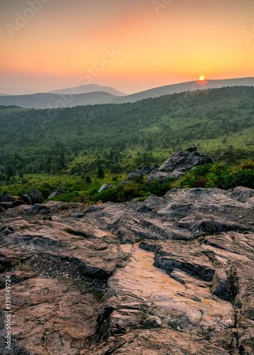 Fotografie, Obraz  Scenic sunset, Grayson Highlands, Appalachian Trail, Virginia