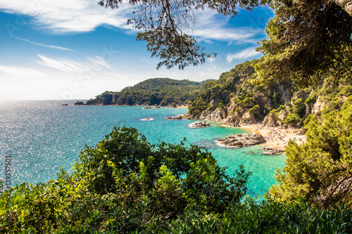 Fotografía  Bay of Sa Boadella in Lloret de Mar, Spain