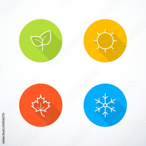 Foto Vector season icons