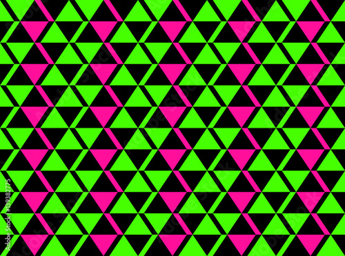 Classic Neon Colors Geometric African Style Seamless Pattern