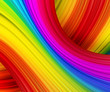 canvas print picture - rainbow waves
