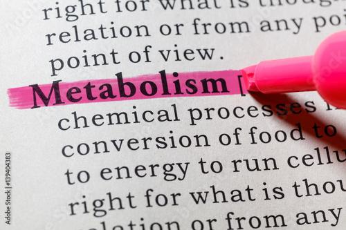 Fotografía  definition of metabolism