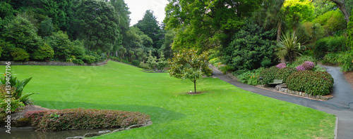 Fotobehang Nieuw Zeeland The botanical gardens scenic reserve in Napier Hawkes Bay New Zealand a formal garden established in 1874