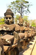 South Gate To Angkor Thom In C...