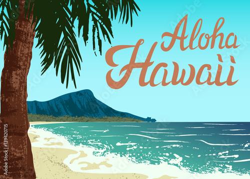 Plaża Waikiki na wyspie Oahu