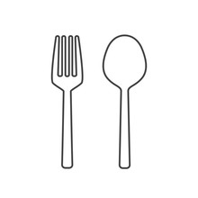 Fork And Spoon Outline Icon