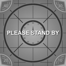 Old Tv Resolution Chart Screen, Please Stand By Background, Vector Illustration