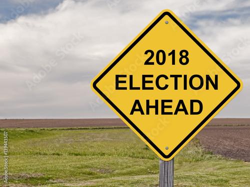 Fényképezés  Caution - 2018 Election Ahead