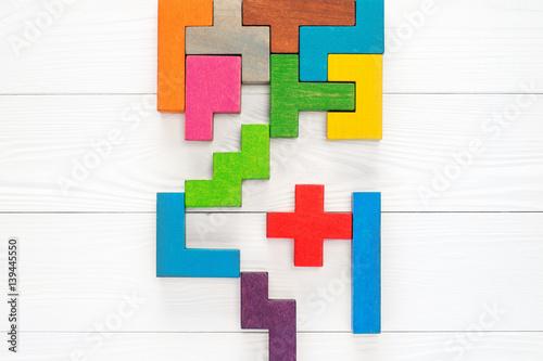 Fotografía  Concept of creative, logical thinking