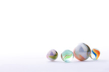 Marbles Balls Isolated On White Background