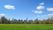 View of Central park at sunny spring day