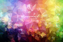 Abstract Low Poly Triangles Ba...