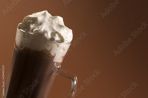 Spoed Foto op Canvas Chocolade hot chocolate drink