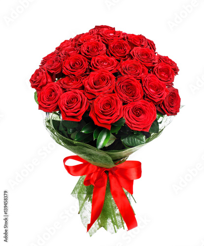 Tuinposter Roses Flower bouquet of red roses