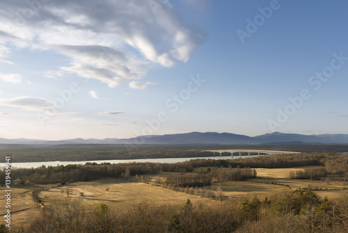 Fotografie, Tablou  Hudson River and Catskill Mountain Landscape
