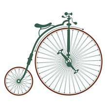 Old Antique Bicycle With Large...