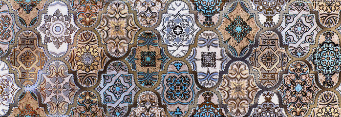 Fototapeta Mozaika mosaic, ceramic tile, abstract pattern