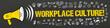 Leinwanddruck Bild - Workplace Culture! / Megafon mit Symbole