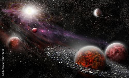 planety-magmowe-z-pierscieniami-asteroid-w-kosmosie