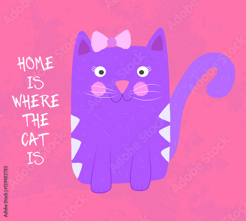 Wall Murals Cats Hom is where the cat is