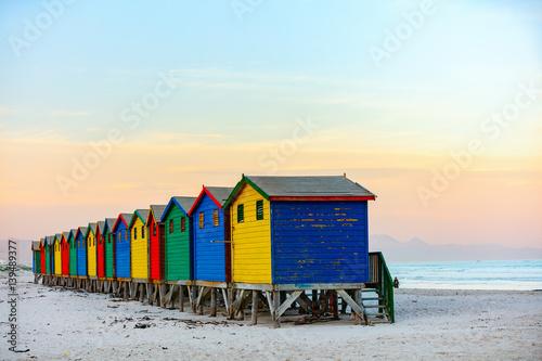 Tuinposter Zuid Afrika Muizenberg beach