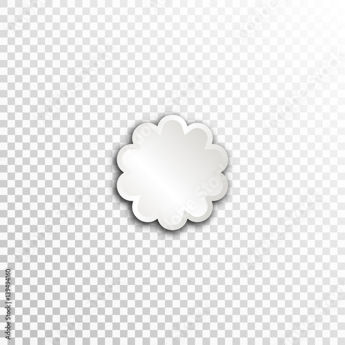 Empty White Paper Plate Base For Text Simple Flower Form Card On