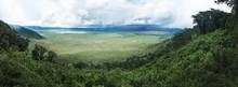 Wide Ngorongoro Crater In Tanzania