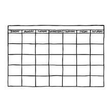 Blank Calendar - Vector Illust...