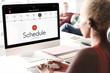 Schedule Time Management Planner Concept