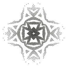A Geometric Element For Creating An Ethnic Pattern. An Abstract Figure Of Dots For Creating Patterns For A Surface Design.