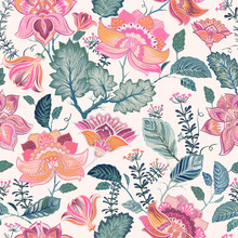 Floral Seamless Patter, Provence Style