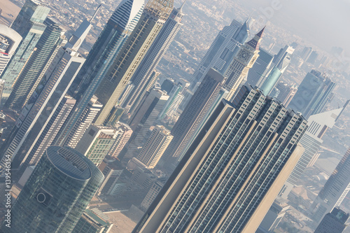 Photo  Aerial view of Dubai downtown skyscrapers