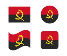 Set 4 Flags Of Angola