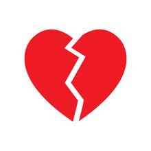 Broken Heart Symbol Isolated Vector