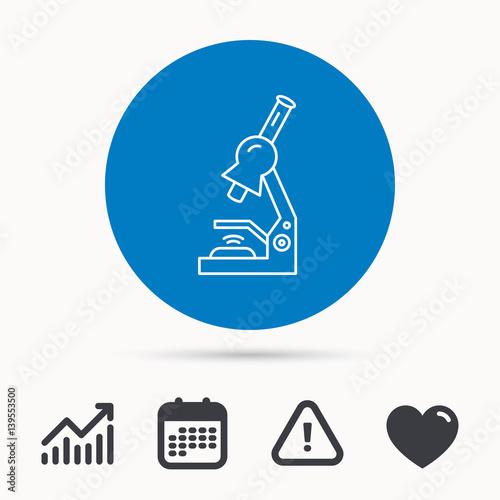Microscope Icon Medical Laboratory Equipment Sign Pathology Or