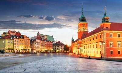 Panorama of Warsaw old town, Poland