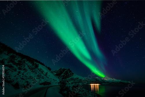 Fotografia, Obraz  Northern lights in scandinavia
